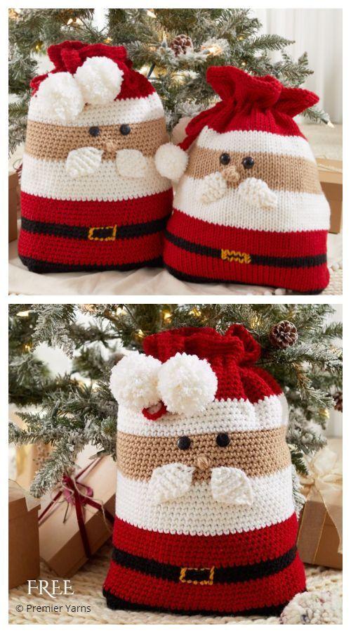 christmas crochet santa bag 2