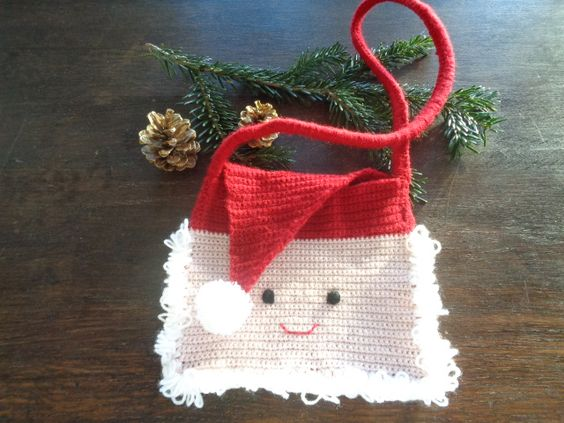 christmas crochet santa bag 3