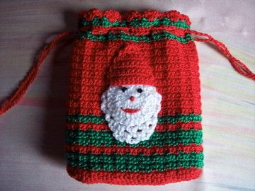 christmas crochet santa bag 4