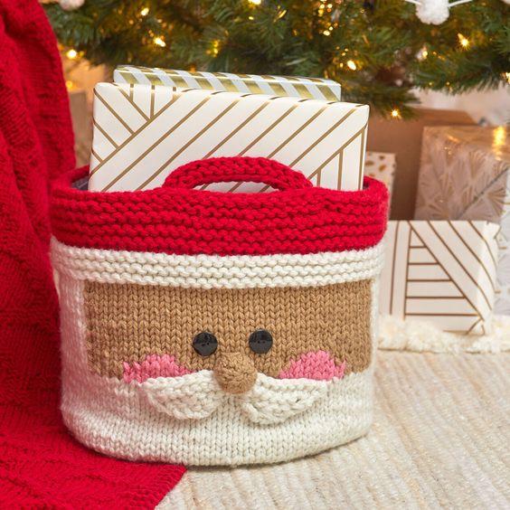 christmas crochet santa bag 5