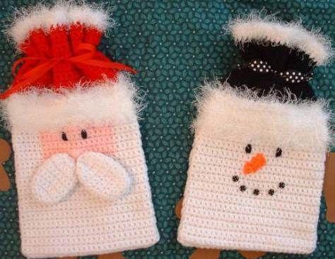 christmas crochet santa bag 6