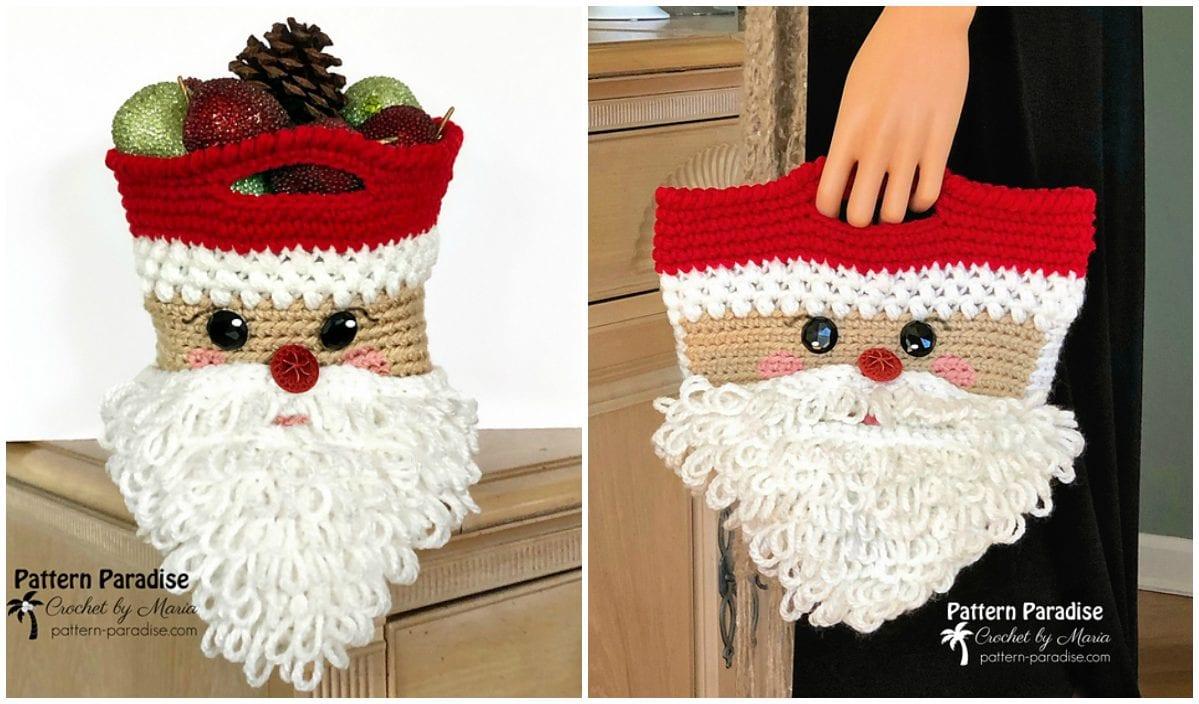 christmas crochet santa bag 9