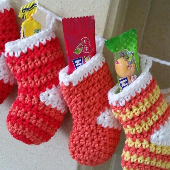 christmas crochet socks video ideas 5