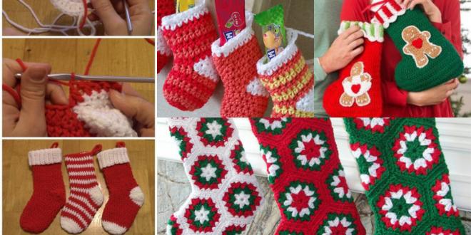 christmas crochet socks video ideas