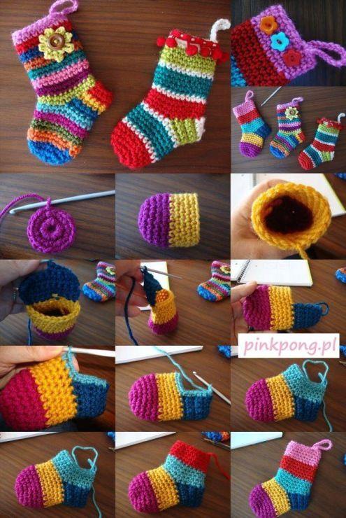 christmas crochet socks video ideas 9