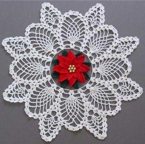 christmas doily crochet 1