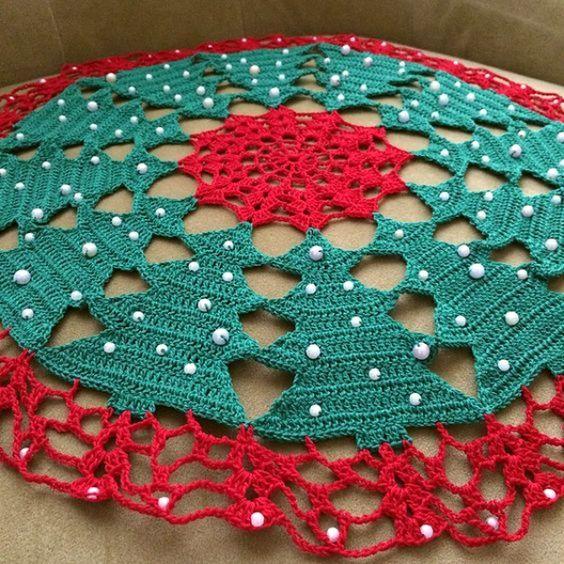 christmas doily crochet 10