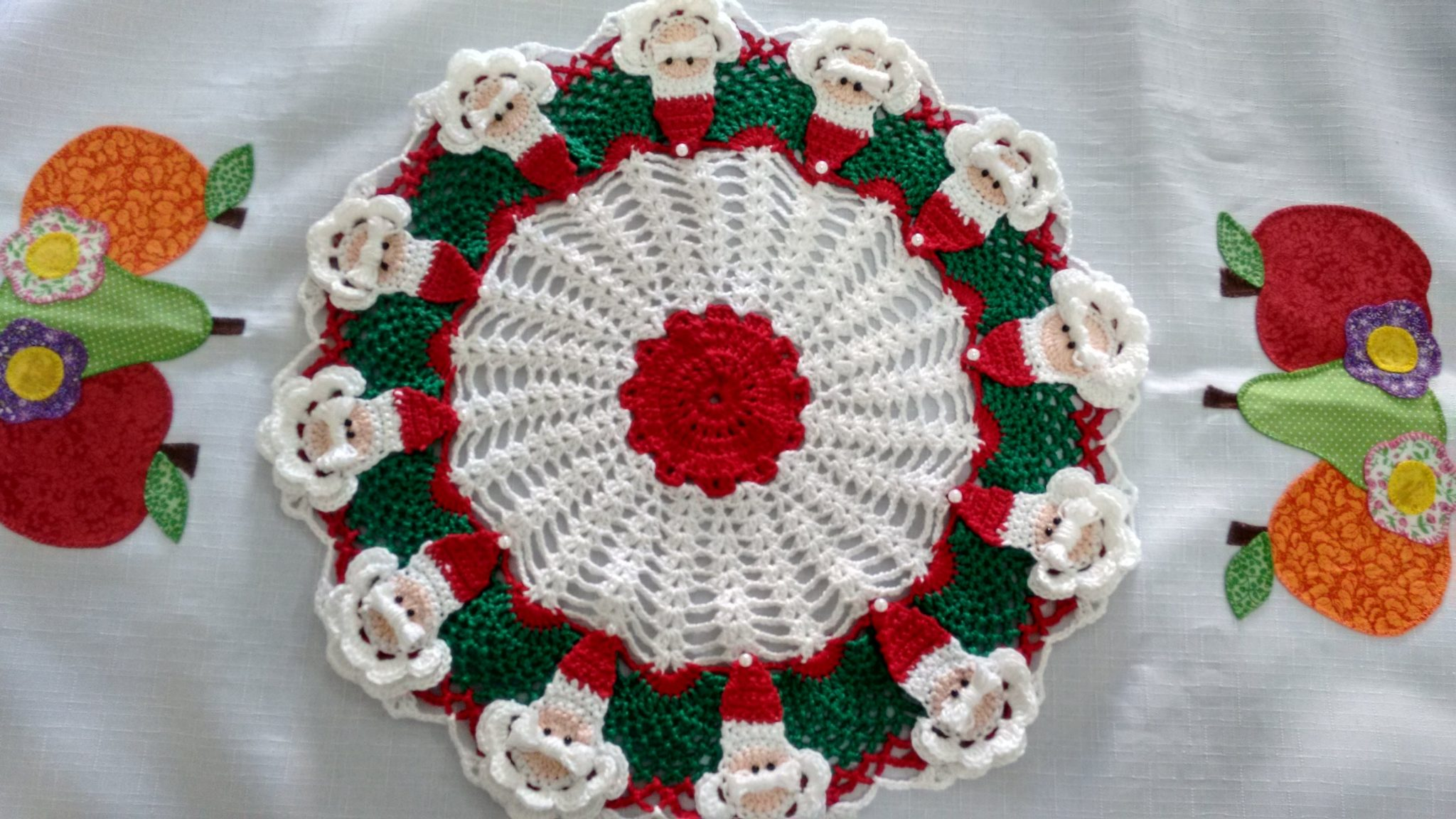 christmas doily crochet 5