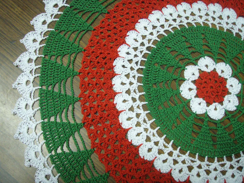 christmas doily crochet 7