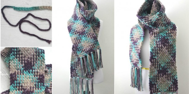 color pooling scarf