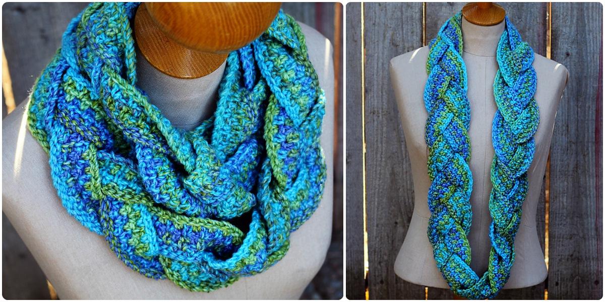 Turquoise Cowl Elegance (Free Crochet)