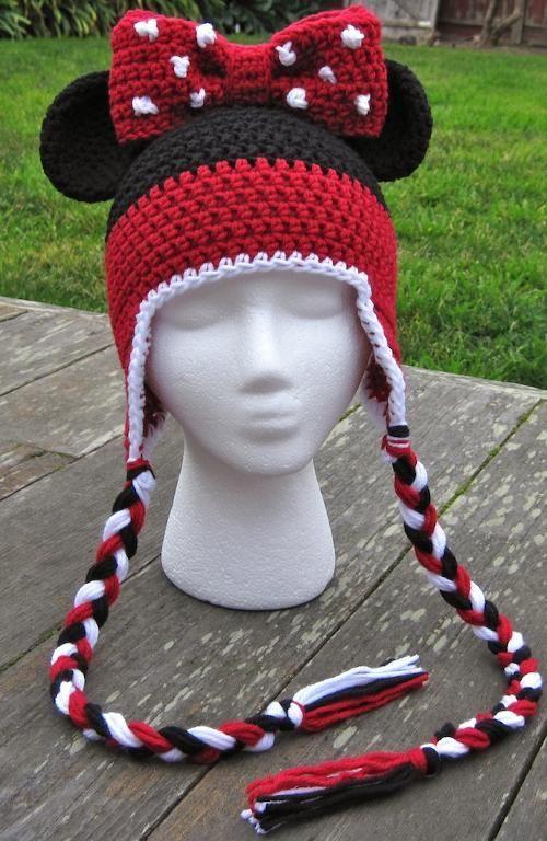 crochet Minnie Hat 1