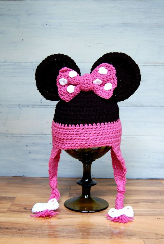 crochet Minnie Hat 3