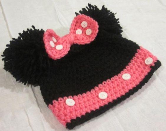 crochet Minnie Hat 5
