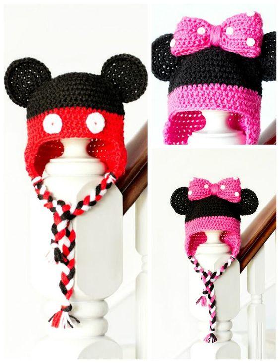 crochet Minnie Hat 6