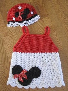 crochet Minnie Hat 9
