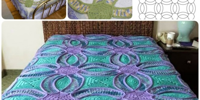 crochet Wedding Ring Quilt