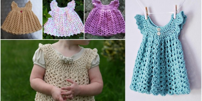crochet angels baby dress