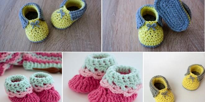 crochet baby booties 8