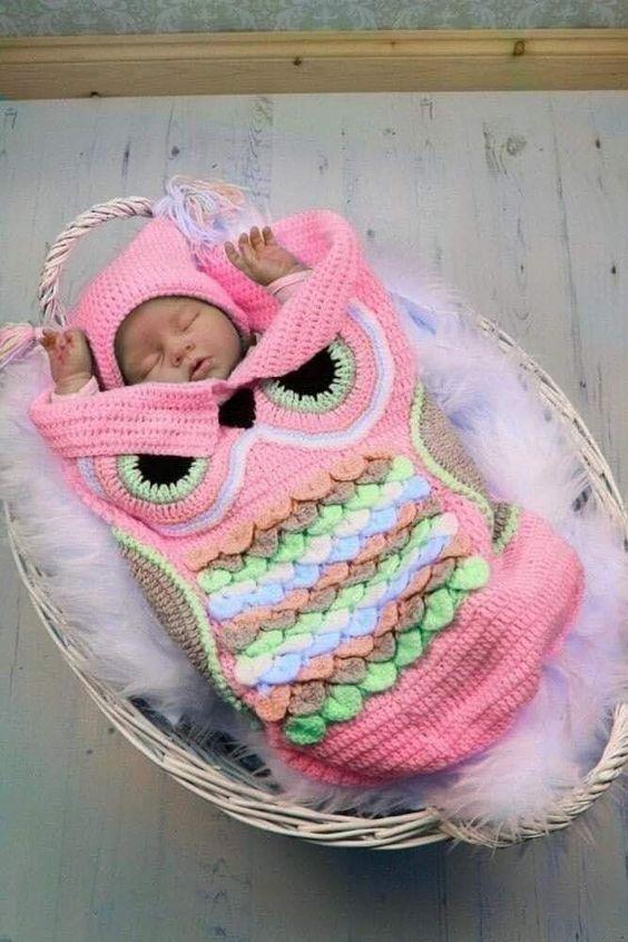 crochet baby cocoon 4