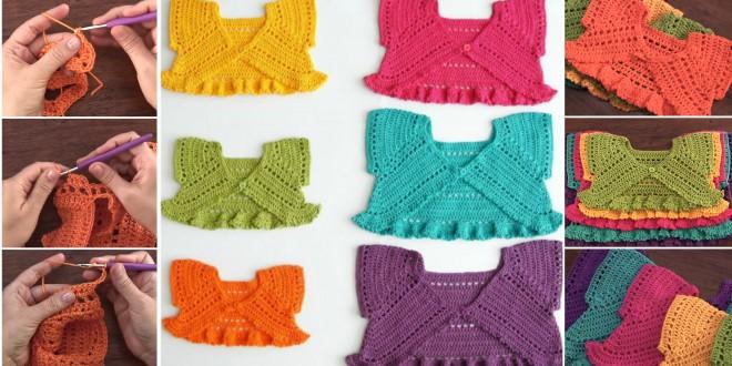 crochet baby jackets