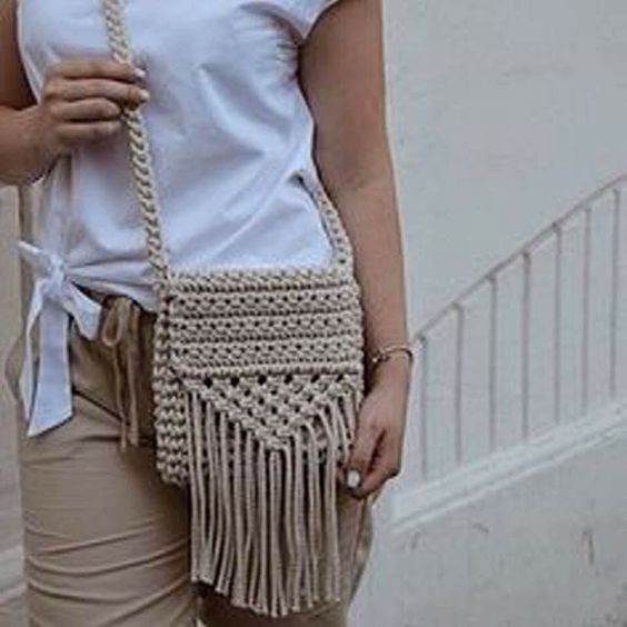 crochet bags with fringe 1