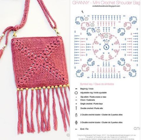 crochet bags with fringe 2