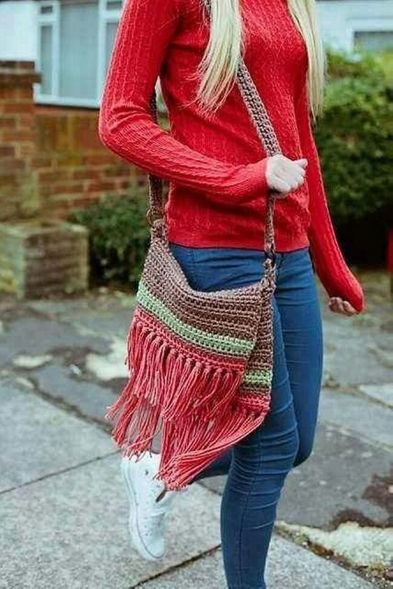 crochet bags with fringe 6
