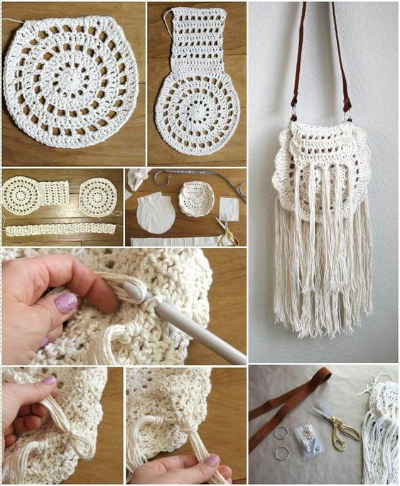 crochet bags with fringe