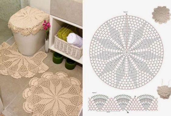 crochet bathroom rugs patterns ideas 1