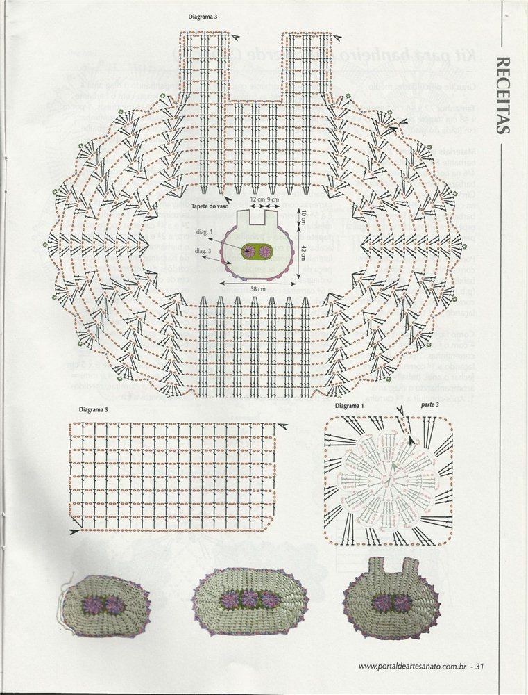 crochet bathroom rugs patterns ideas 10