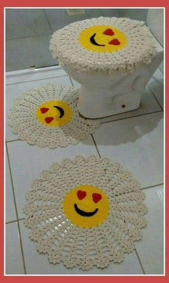 crochet bathroom rugs patterns ideas 11