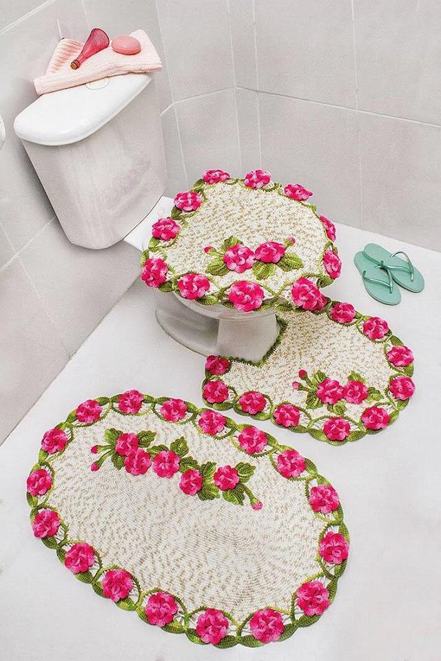 crochet bathroom rugs patterns ideas 6