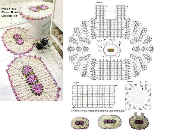crochet bathroom rugs patterns ideas 8