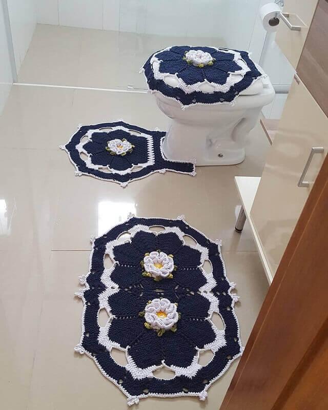 crochet bathroom rugs patterns ideas 9