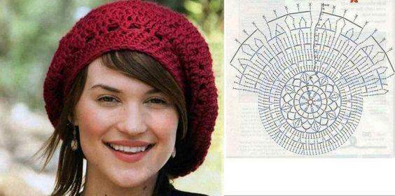 crochet beret tutorial 1