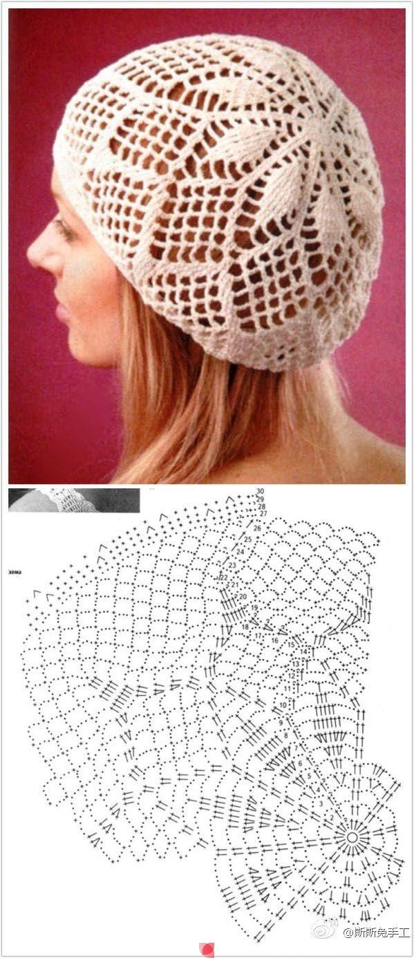 crochet beret tutorial 10