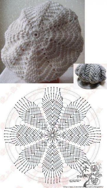 crochet beret tutorial 3