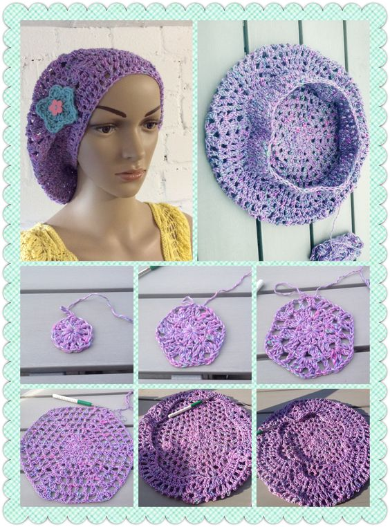 crochet beret tutorial 6