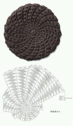 crochet beret tutorial 8