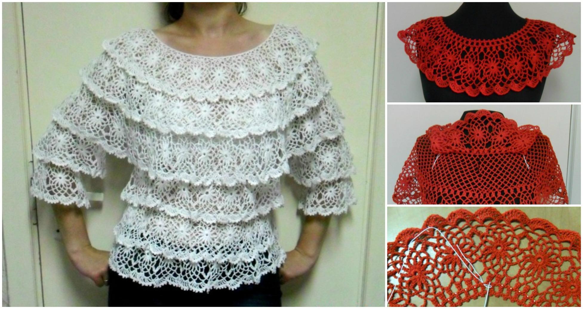 Crochet Blouse In Salsa Style