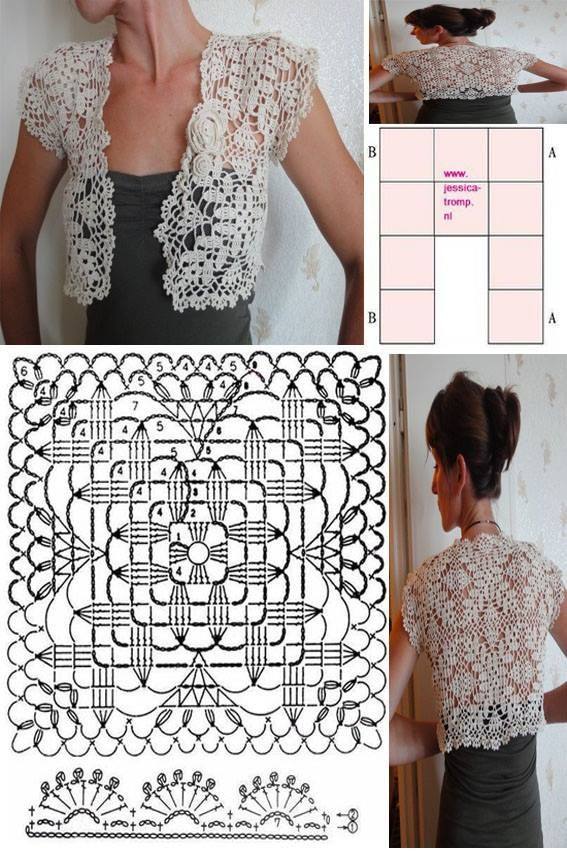 crochet bolero tutorial ideas 10