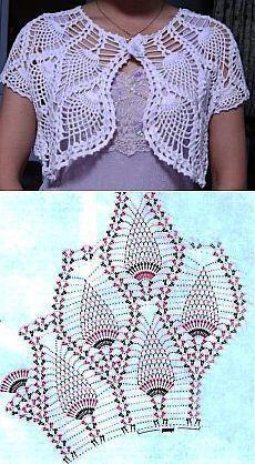 crochet bolero tutorial ideas 3