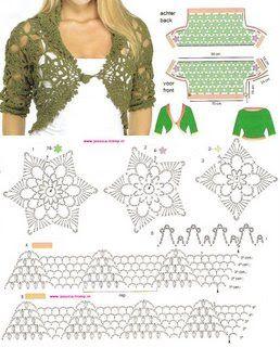 crochet bolero tutorial ideas 7