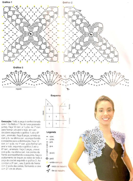 crochet bolero tutorial ideas 8
