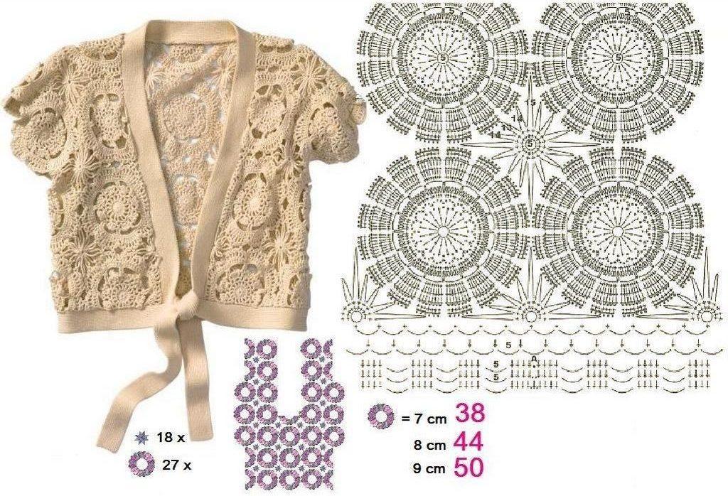 crochet bolero tutorial ideas