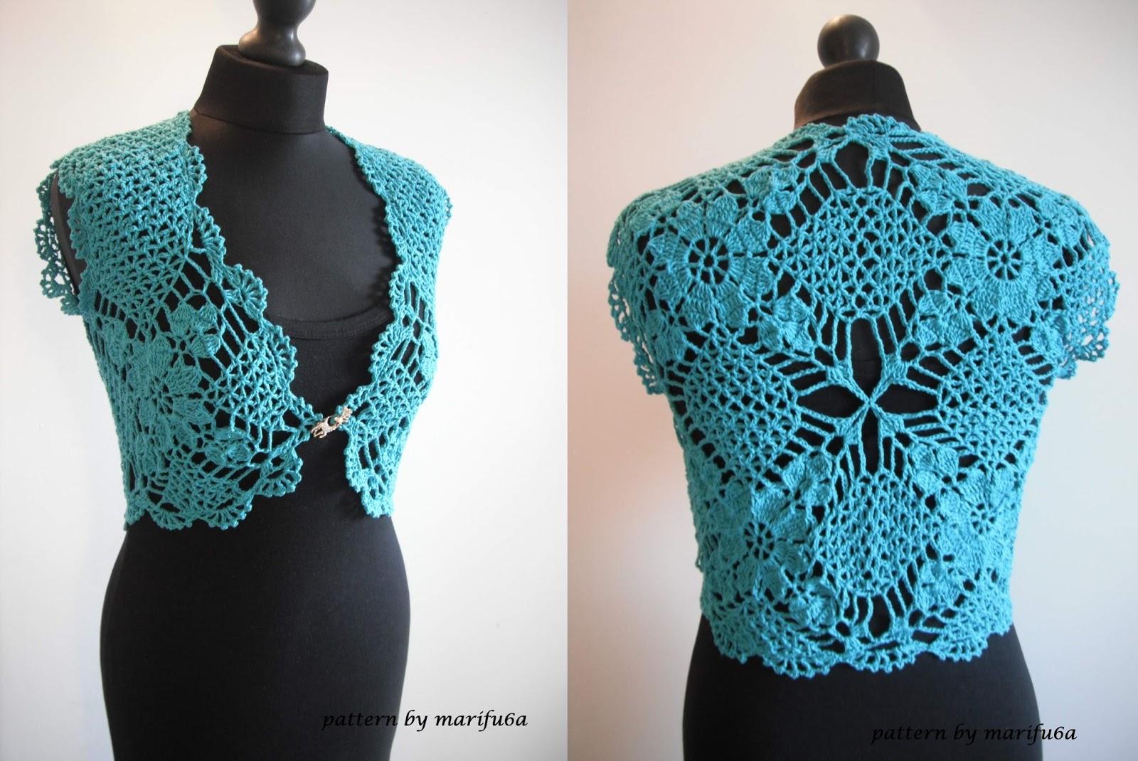How To Crochet Mint Bolero Shrug Chaleco Free Pattern And Video