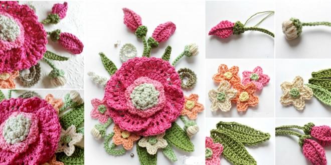 crochet bouquet flower