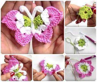 crochet butterfly tutorial 2