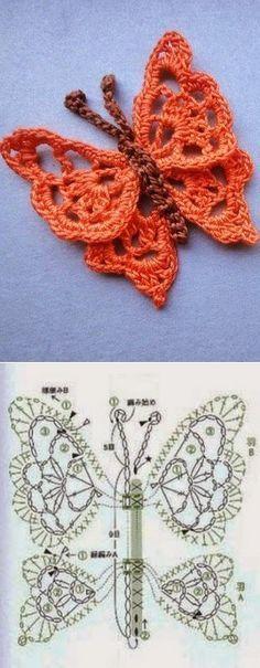crochet butterfly tutorial 4